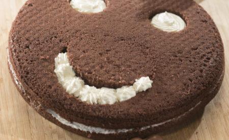 Chocolade smiley cake