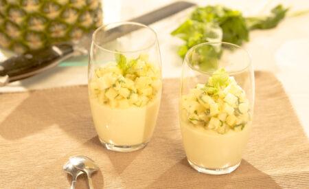 Vanille citrus pudding met ananas08