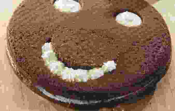 Chocolade smiley cake